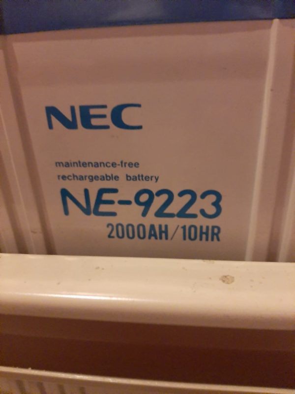 NEC maintenance- free rechargeable battery NE - 9223 2000 AH /10AR