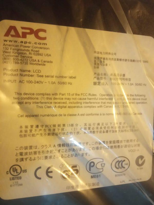 Стоечный комплект APC из ЖК-индикатора
