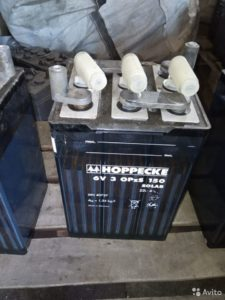 Панцирные батареи hoppecke 2v 3 opzs 150